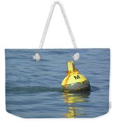 A Water Buoy In The Blue Water Of San Francisco Bay Weekender Tote Bag