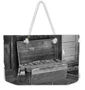 A Weathered Bench Black And White Weekender Tote Bag