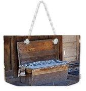 A Weathered Bench Weekender Tote Bag