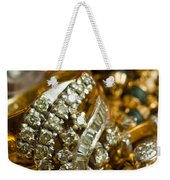 A White Gold Bracelet Among Other Yellow Gold Jewellery Weekender Tote Bag