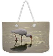 A White Ibis Probes The Mud Weekender Tote Bag