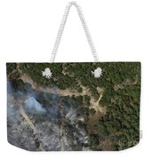A Wildfire Burns Land Near Austin Weekender Tote Bag