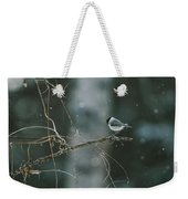 A Willow Tit Parus Montanus Perches Weekender Tote Bag