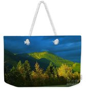 A Winding Autumn Road  Weekender Tote Bag