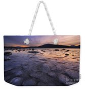 A Winter Sunset At Evenskjer In Troms Weekender Tote Bag by Arild Heitmann