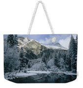 A Winter View Of The Merced River Weekender Tote Bag