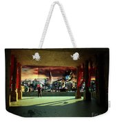 A Woman Spys From The Shadows Weekender Tote Bag