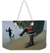 A Woman Training To Be A Healer Gathers Weekender Tote Bag