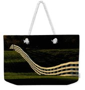 A Wooden Fence At The Shaker Village Weekender Tote Bag