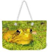 A Yellow Bullfrog Weekender Tote Bag