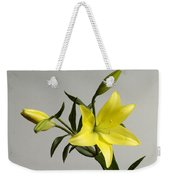 A Yellow Lily Lilium Canadense Weekender Tote Bag
