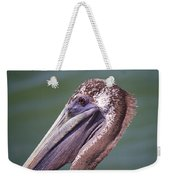 A Young Brown Pelican Weekender Tote Bag
