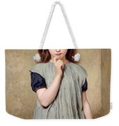 A Young Girl In The Classroom Weekender Tote Bag