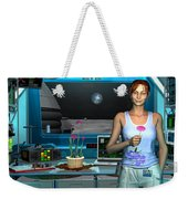 A Young Radio Astronomer Stationed Weekender Tote Bag by Walter Myers