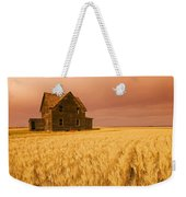 Abandoned Farm House, Wind-blown Durum Weekender Tote Bag