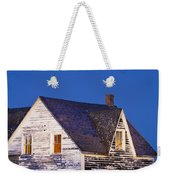 Abandoned House And Moon At Dusk Weekender Tote Bag