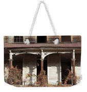 Abandoned House Facade Rusty Porch Roof Weekender Tote Bag