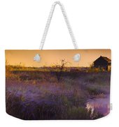 Abandoned Shack At Sunset Near A Creek Weekender Tote Bag