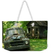Abandoned Truck At Post Office Weekender Tote Bag