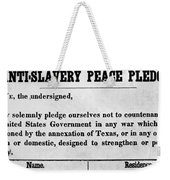Abolitionist Peace Pledge Weekender Tote Bag