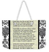 About The Artist Weekender Tote Bag