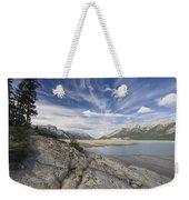 Abraham Lake Created By Bighorn Dam Weekender Tote Bag