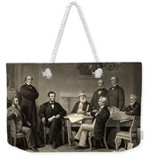 Abraham Lincoln At The First Reading Of The Emancipation Proclamation - July 22 1862 Weekender Tote Bag