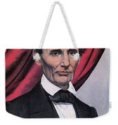 Abraham Lincoln, Republican Candidate Weekender Tote Bag by Photo Researchers