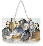 Abraham Lincolns Cabinet Weekender Tote Bag