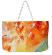 Abstract Art Colorful Bright Pastels Original Painting Spring Is Here I By Madart Weekender Tote Bag
