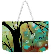 Abstract Art Original Landscape Painting Colorful Circles Morning Blues IIi By Madart Weekender Tote Bag