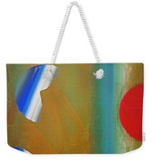 Abstract Blue With Red Sun Weekender Tote Bag