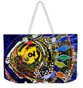 Abstract Busy Bee Fish Weekender Tote Bag