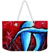 Abstract Calla Lilly Textured Painting Greeting Lillies By Madart Weekender Tote Bag