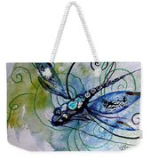 Abstract Dragonfly 10 Weekender Tote Bag