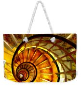 Abstract Golden Nautilus Spiral Staircase Weekender Tote Bag