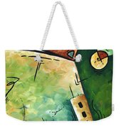 Abstract Martini Cityscape Contemporary Original Painting Martini Hour By Madart Weekender Tote Bag