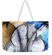Abstract Martini Tropical Contemporary Original Painting Martini On The Beach By Madart Weekender Tote Bag