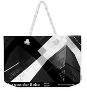 Abstract Mies Weekender Tote Bag