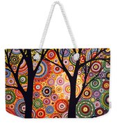 Abstract Modern Tree Landscape Distant Worlds By Amy Giacomelli Weekender Tote Bag