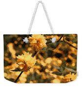 Abstract Of Yellow Flowers Weekender Tote Bag