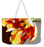 Abstract Parrot Tulip Weekender Tote Bag