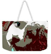 Abstract Pup Weekender Tote Bag
