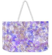 Abstract Purple Splatters Weekender Tote Bag