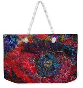 Abstract Red Poppy Weekender Tote Bag