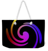 Abstract Spiral Color Weekender Tote Bag