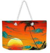 Abstract Surreal Tropical Coastal Art Original Painting Tropical Burn By Madart Weekender Tote Bag