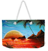 Abstract Surreal Tropical Coastal Art Original Painting Tropical Fusion By Madart Weekender Tote Bag