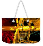 Abstract Tan 12 Imaginary Engine Weekender Tote Bag