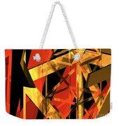 Abstract Tan 2 Weekender Tote Bag